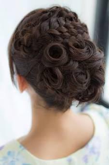 結婚式、二次会にかわいいヘア ...