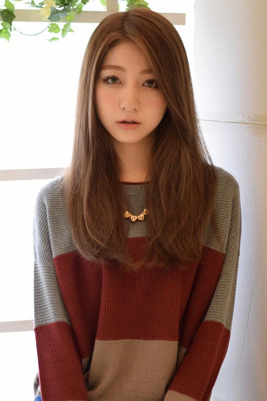 髪型 ロング 二段